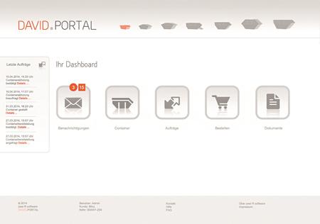 Das Kundenportal von david.net