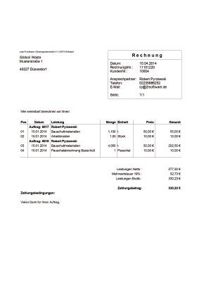 Automatisierte Rechnungsstellung