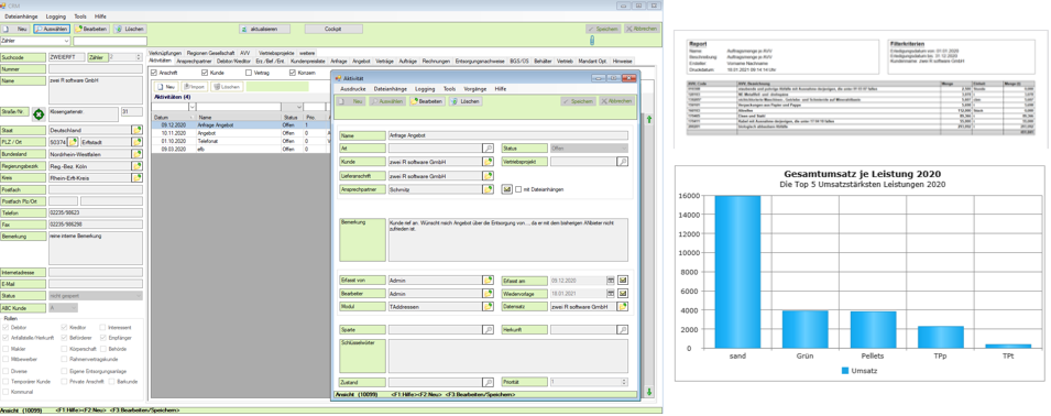CRM david.net - Software für die Abfallwirtschaft