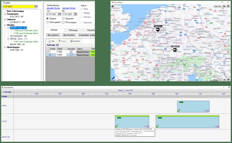 Disposition und Tourenplanung in david.net