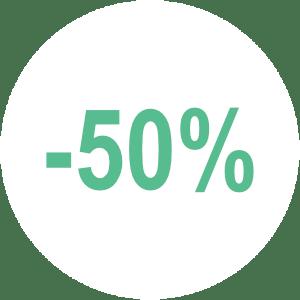 Bis zu 50% weniger Arbeitsaufwand